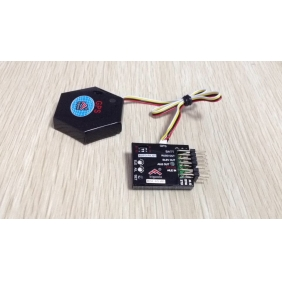 Pegasus 3GX 6-Axis Auto Balance Flight Control System with external GPS for fixed wing aircraft