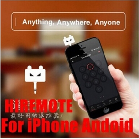HiRemote V1 IOS iPHONE6 PLUS iPAD Air Android Infared Universal Mobile Phone IR Remote controller for TV DVD Loudspeaker Air conditioner WITHOUT LEARNING FUNCTION